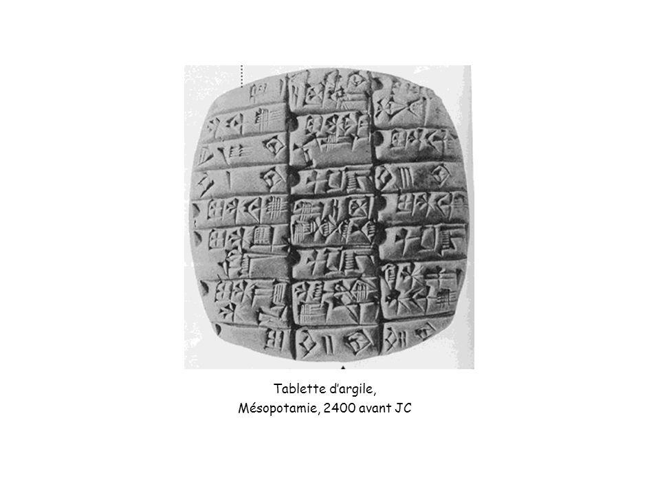 Tablette dargile, Mésopotamie, 2400 avant JC