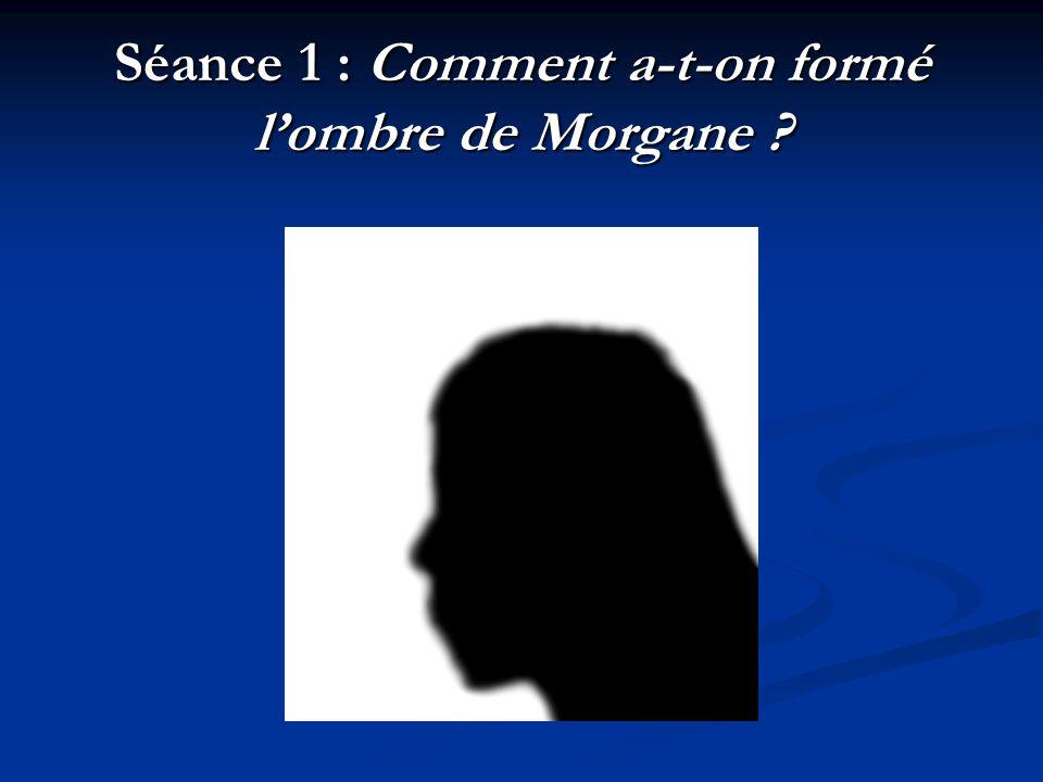 Séance 1 : Comment a-t-on formé lombre de Morgane ?