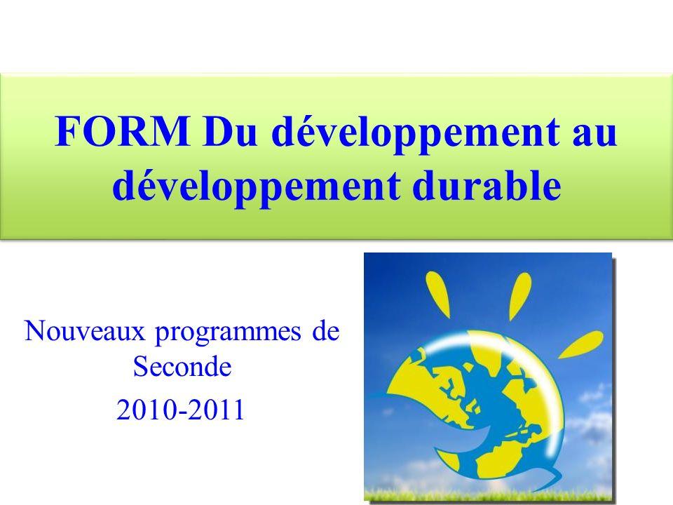 Pourquoi le développement durable dans nos programmes ?