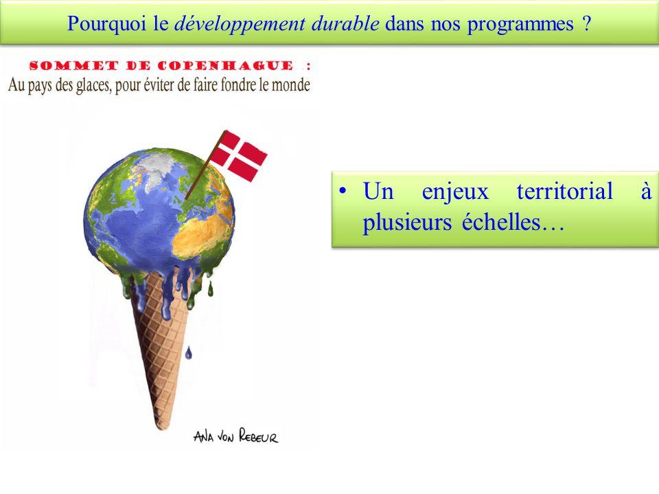 a. Quels sont les enjeux du développement durable ?