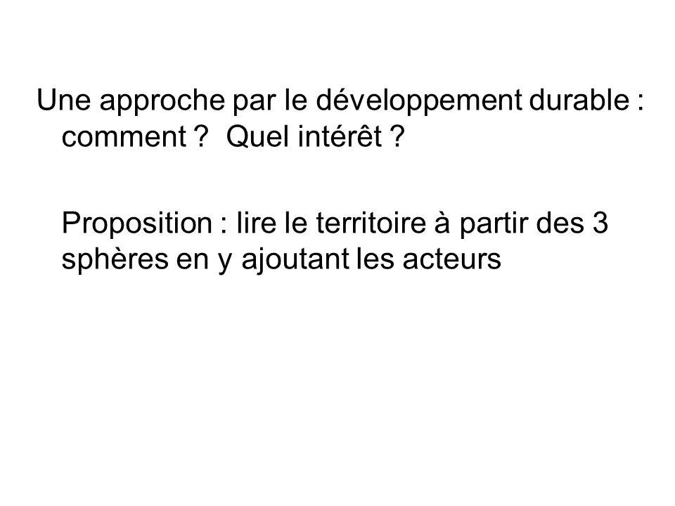 Une approche par le développement durable : comment .