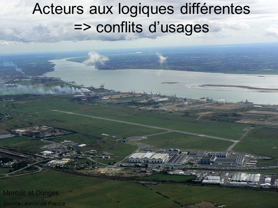 Montoir et Donges Source : survol de France Acteurs aux logiques différentes => conflits dusages