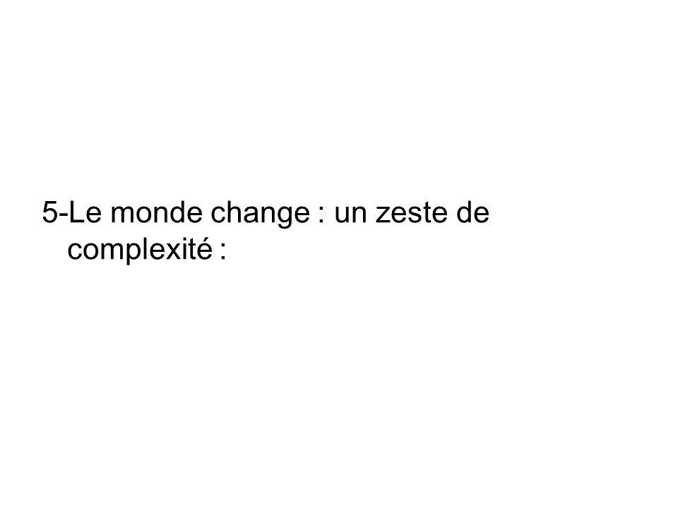 5-Le monde change : un zeste de complexité :