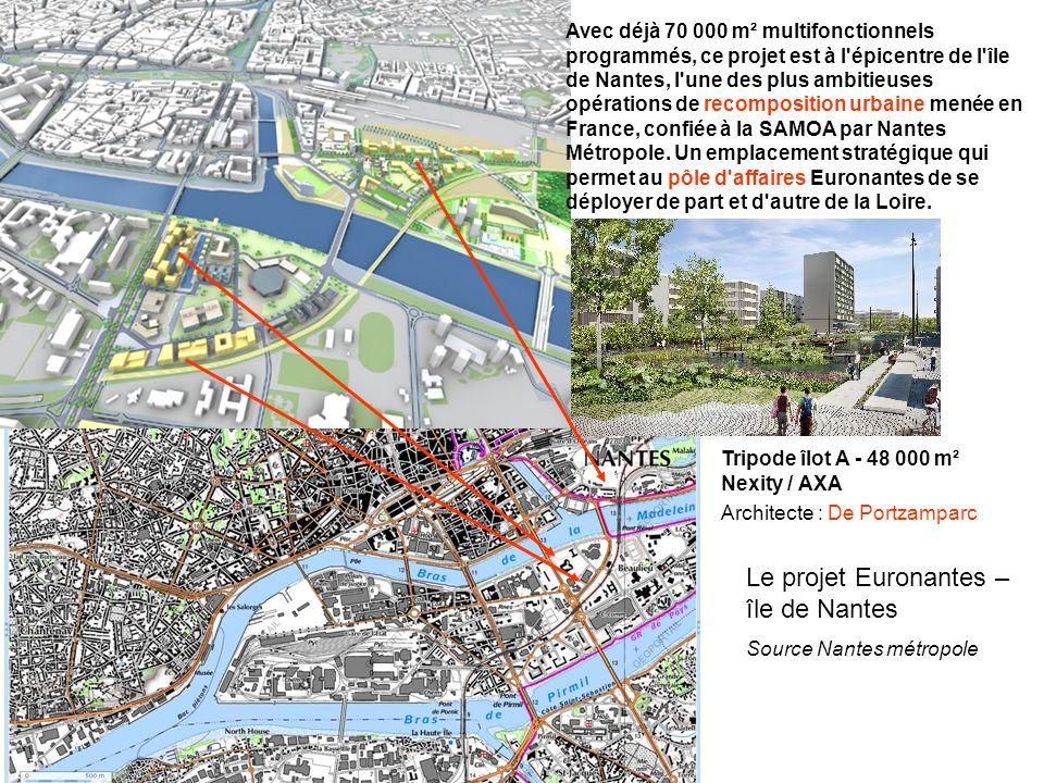 Avec déjà 70 000 m² multifonctionnels programmés, ce projet est à l épicentre de l île de Nantes, l une des plus ambitieuses opérations de recomposition urbaine menée en France, confiée à la SAMOA par Nantes Métropole.