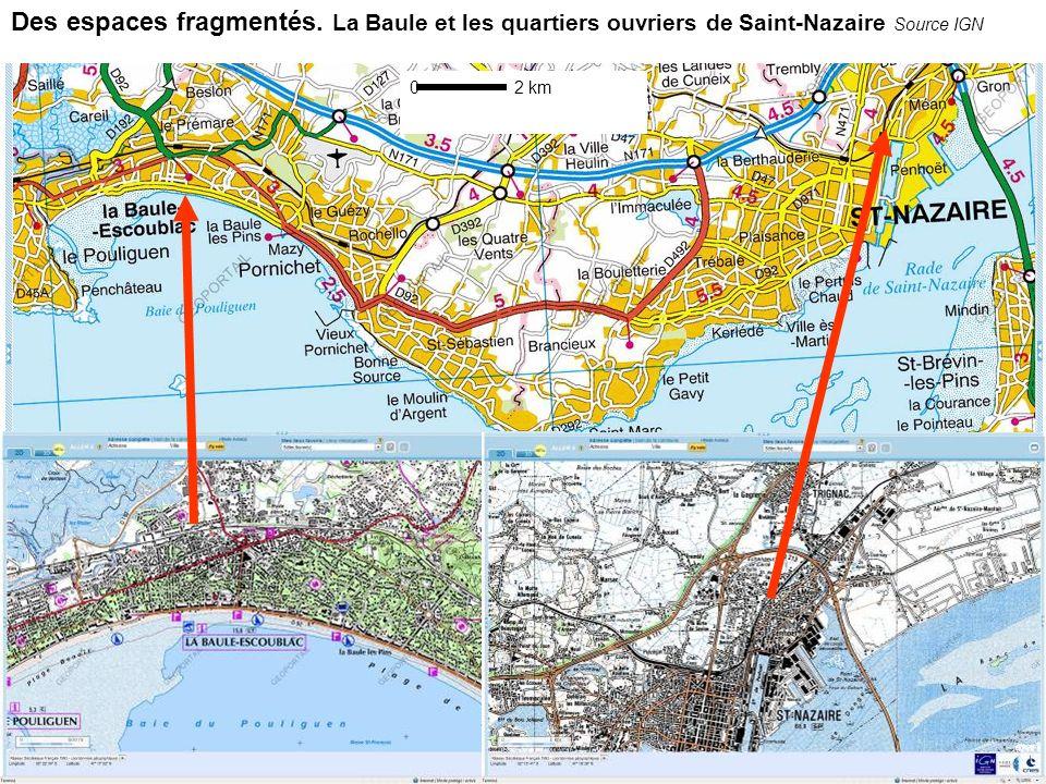 Des espaces au cœur de dynamiques territoriales -des flux complexes et importants -intégration spatiale à petite échelle (hinterland) -des difficultés économiques réelles Sources : http://www.seine-nord- europe.com/, Mer et Marine, GPM de Nantes Saint-Nazairehttp://www.seine-nord- europe.com/