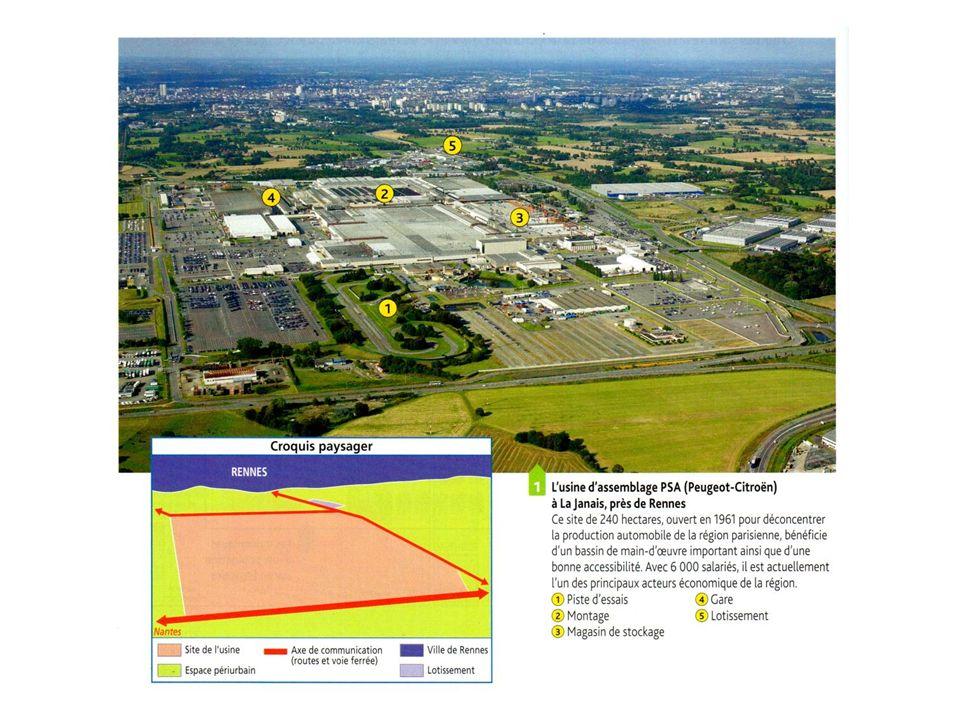 Les espaces agricoles français 1.Espaces agricoles spécialisés à forte productivité 2.