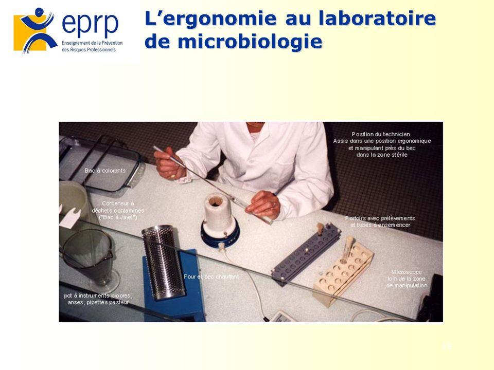 18 Lergonomie au laboratoire de microbiologie