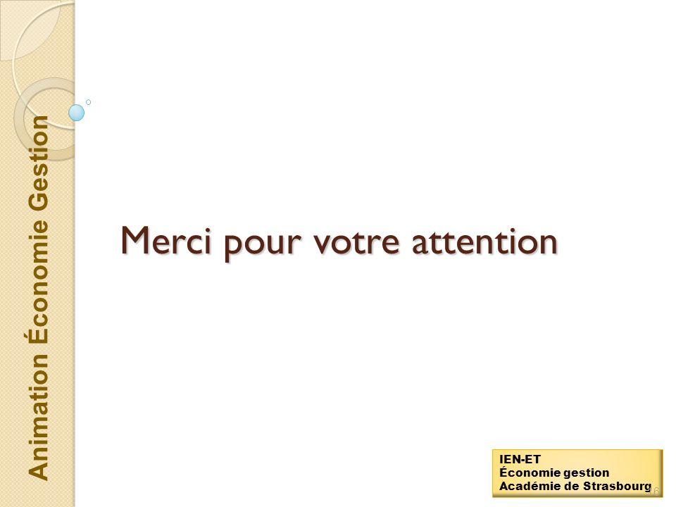Animation Économie Gestion IEN-ET Économie gestion Académie de Strasbourg 15 Lorganisation du suivi des PFMP Épreuve E3 : épreuve pratique prenant en compte la formation en milieu Document « Planification de la formation professionnelle »