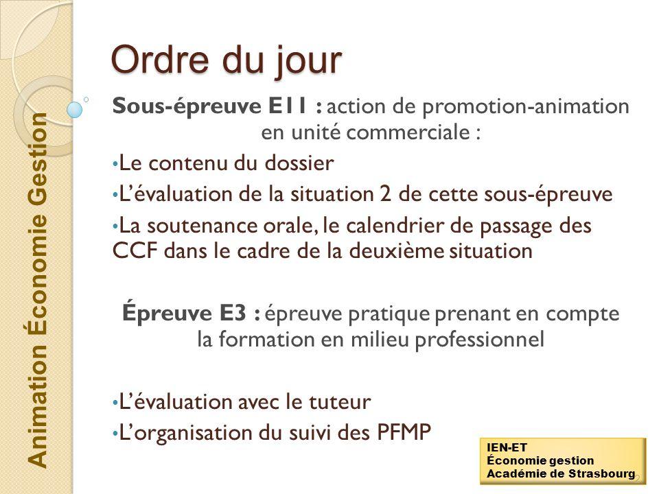 Animation Économie Gestion IEN-ET Économie gestion Académie de Strasbourg Réunion de cadrage des épreuves de CCF en Baccalauréat Commerce Lycée Schwei