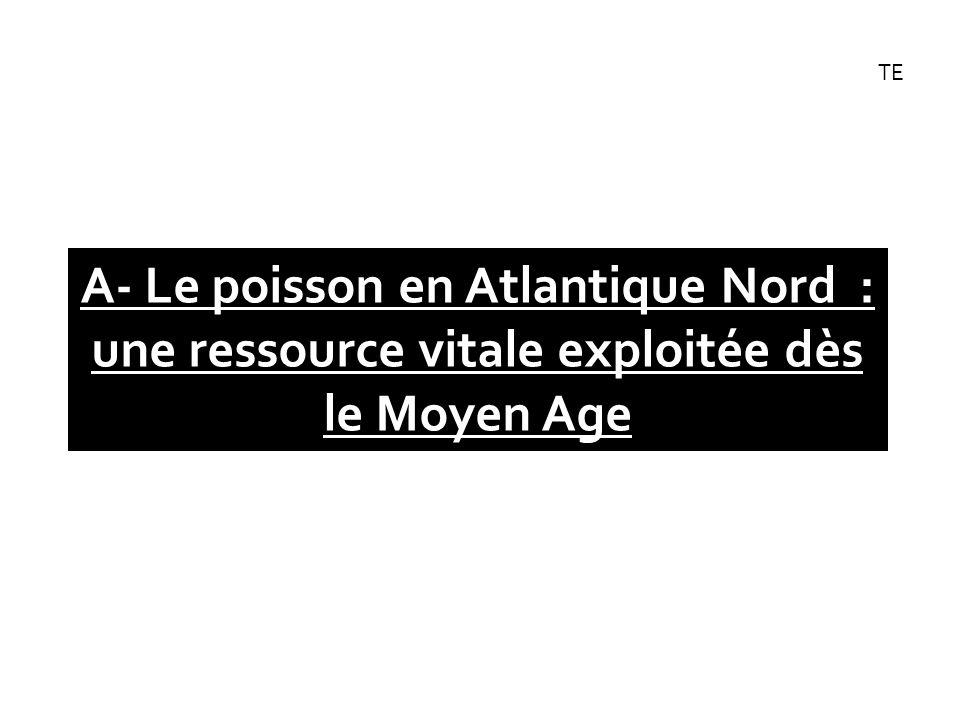 A- Le poisson en Atlantique Nord : une ressource vitale exploitée dès le Moyen Age TE