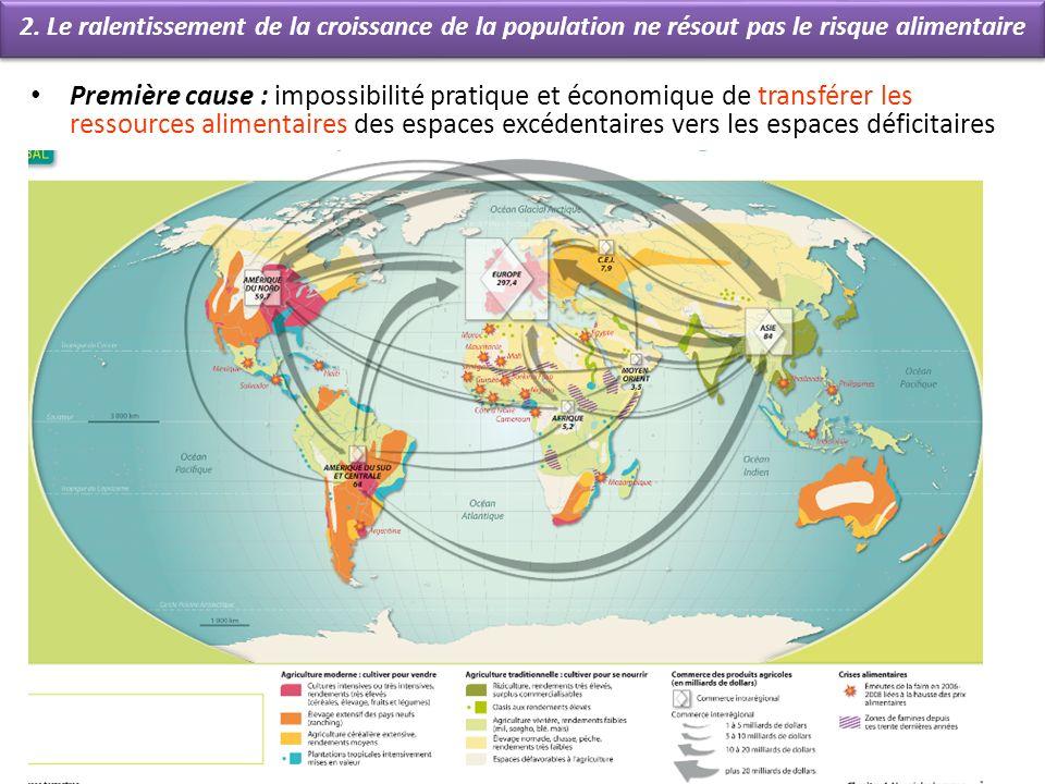 2ème cause : Le risque alimentaire est de plus en plus lié au développement (avec la transition alimentaire) Le Monde, 19 février 2010.
