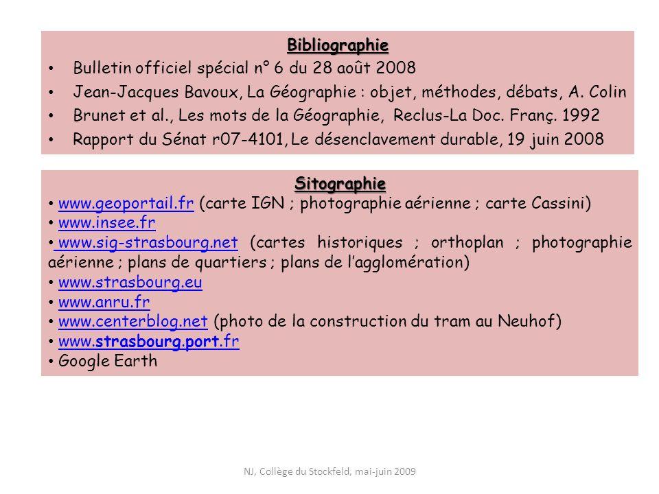 Bibliographie Bulletin officiel spécial n° 6 du 28 août 2008 Jean-Jacques Bavoux, La Géographie : objet, méthodes, débats, A. Colin Brunet et al., Les