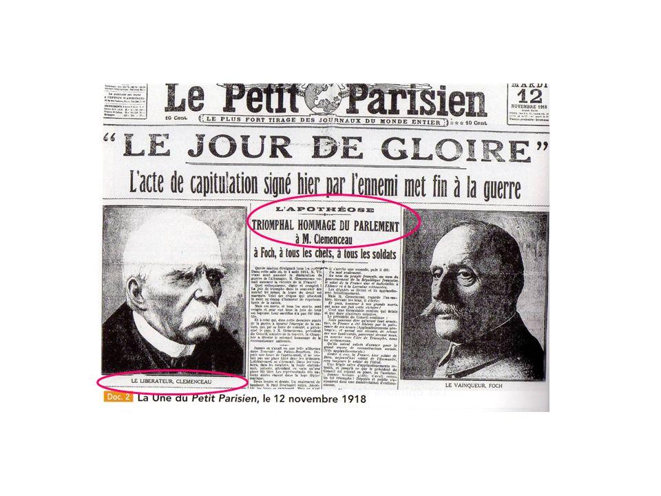 Document 5 Le dénouement politique: la conférence de la paix Clemenceau prend en main la négociation (…).