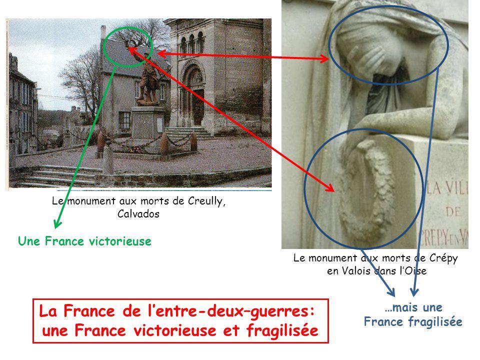 Le monument aux morts de Crépy en Valois dans lOise Le monument aux morts de Creully, Calvados La France de lentre-deux–guerres: une France victorieus
