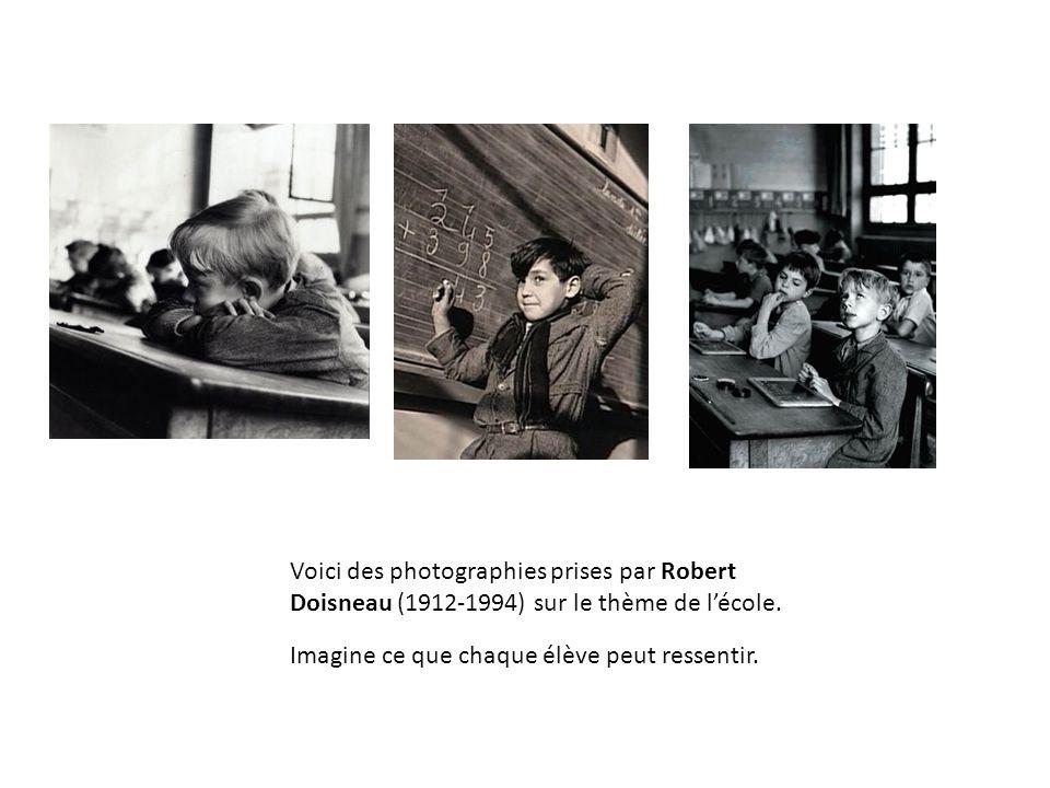 Voici des photographies prises par Robert Doisneau (1912-1994) sur le thème de lécole.