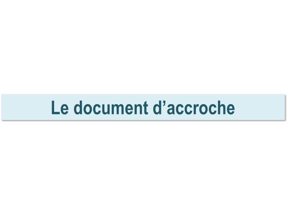Le document daccroche