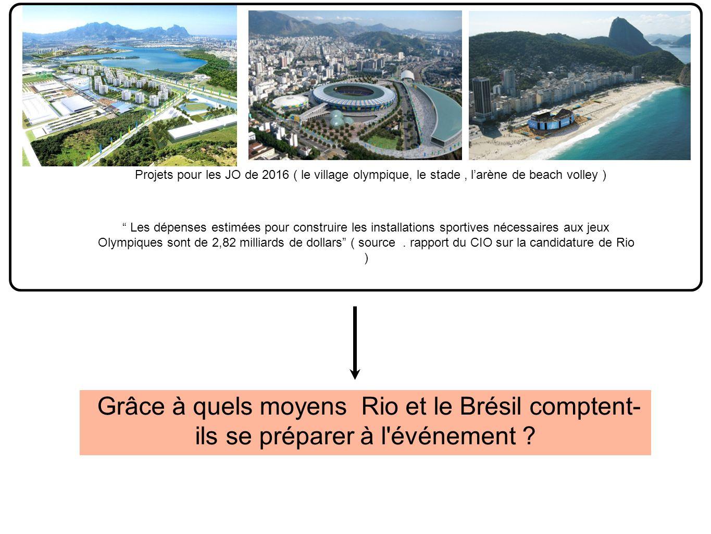 Grâce à quels moyens Rio et le Brésil comptent- ils se préparer à l événement .