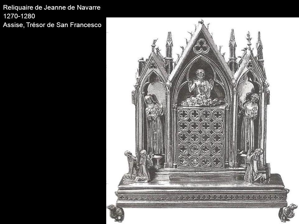 Reliquaire de Jeanne de Navarre 1270-1280 Assise, Trésor de San Francesco