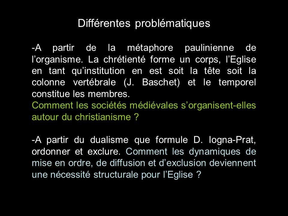 Différentes problématiques -A partir de la métaphore paulinienne de lorganisme. La chrétienté forme un corps, lEglise en tant quinstitution en est soi