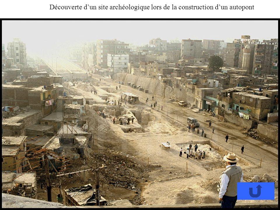 Découverte dun site archéologique lors de la construction dun autopont