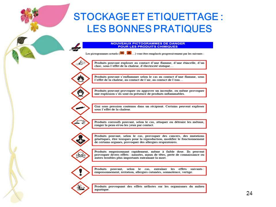 24 STOCKAGE ET ETIQUETTAGE : LES BONNES PRATIQUES
