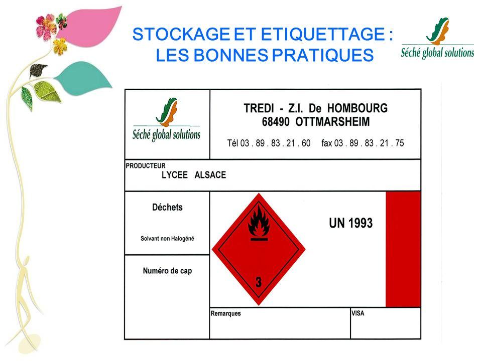 26 STOCKAGE ET ETIQUETTAGE : LES BONNES PRATIQUES