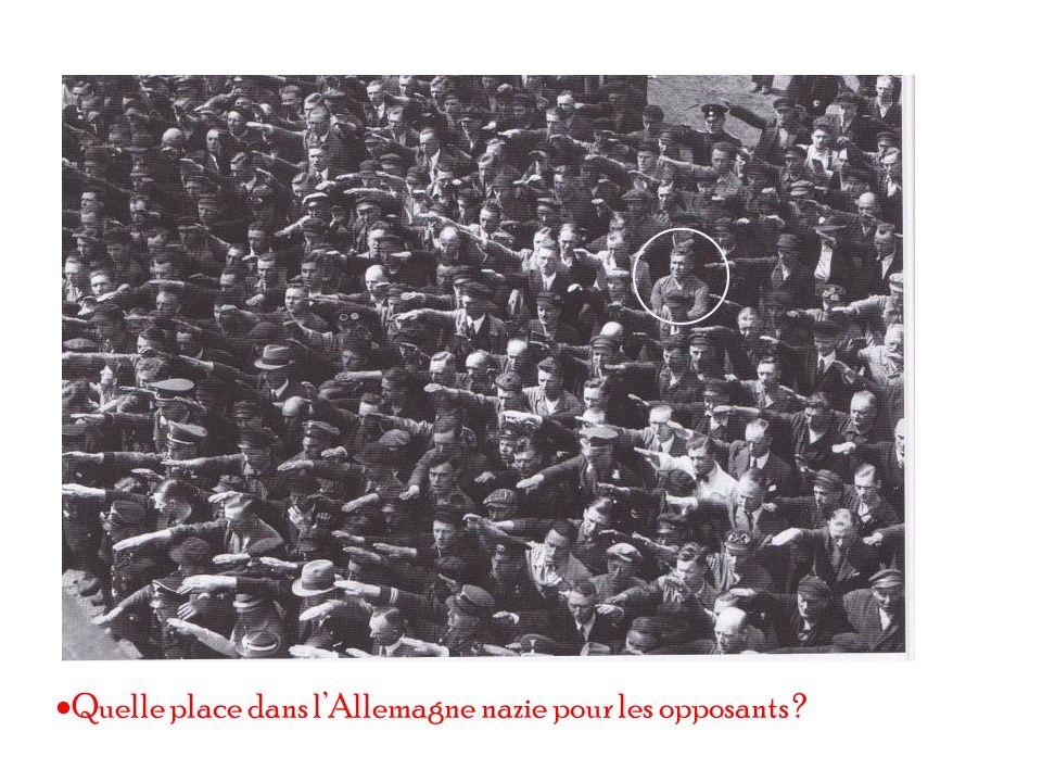 Quelle place dans lAllemagne nazie pour les opposants ?