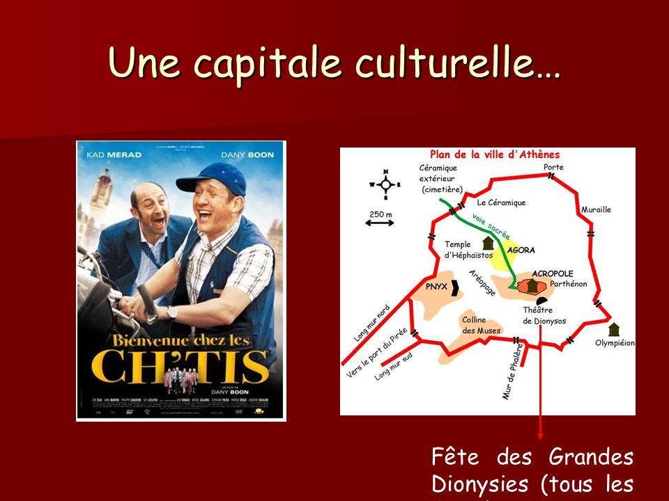 Une capitale culturelle… Fête des Grandes Dionysies (tous les 4 ans)