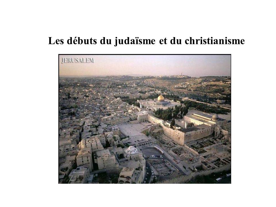 Les débuts du judaïsme et du christianisme
