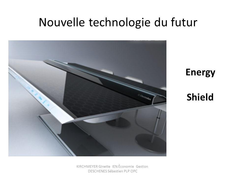 KIRCHMEYER Ginette IEN Économie Gestion DESCHENES Sébastien PLP OPC Nouvelle technologie du futur Energy Shield