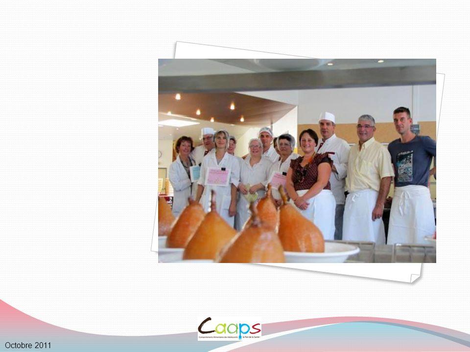 9 I.Organisation, environnement et accueil au restaurant scolaire Le service Octobre 2011