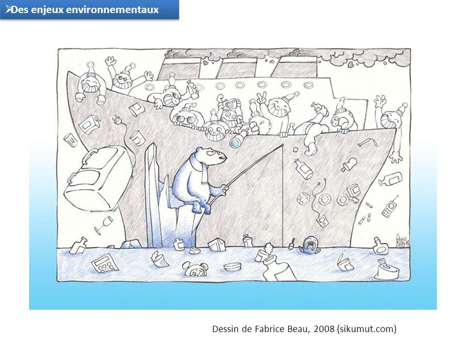 Dessin de Fabrice Beau, 2008 (sikumut.com) Des enjeux environnementaux