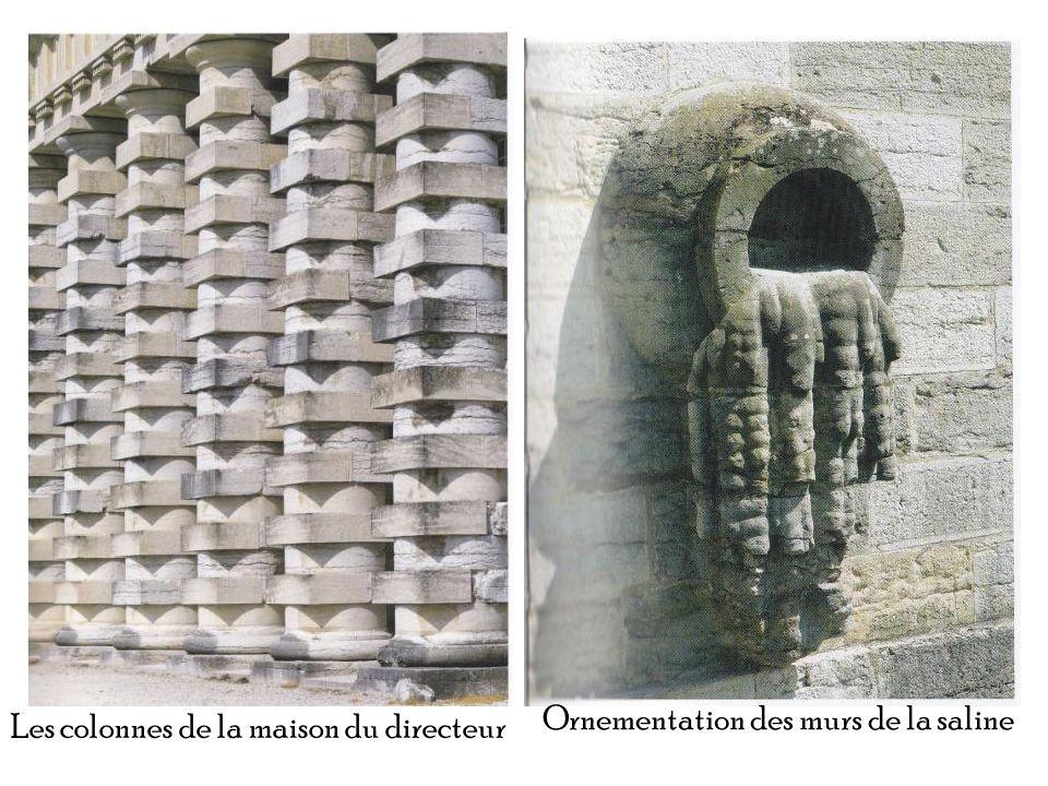 Les colonnes de la maison du directeur Ornementation des murs de la saline