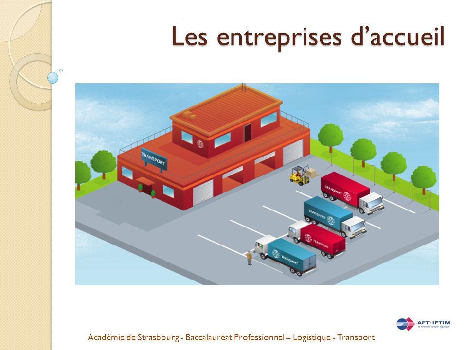 Académie de Strasbourg - Baccalauréat Professionnel – Logistique - Transport Les entreprises daccueil