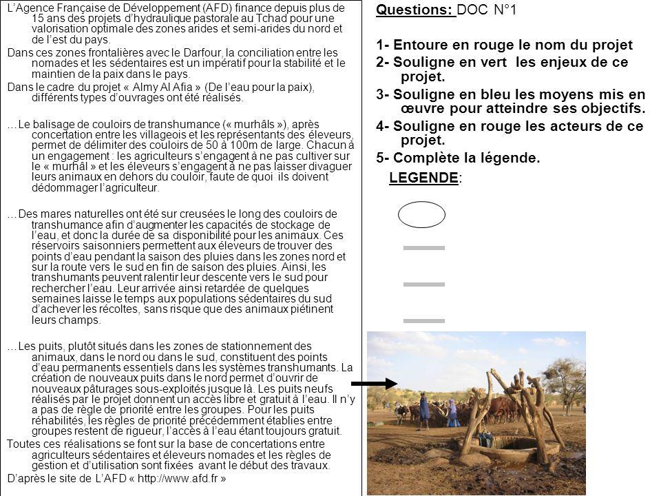 Questions: DOC N°1 1- Entoure en rouge le nom du projet 2- Souligne en vert les enjeux de ce projet. 3- Souligne en bleu les moyens mis en œuvre pour