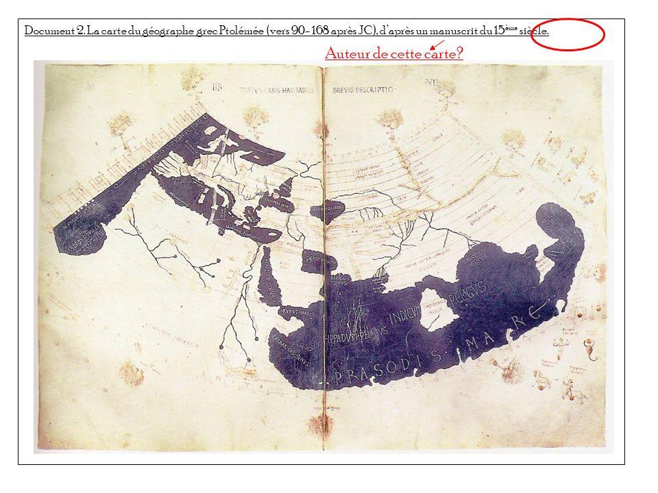 Document 3.Le planisphère de Waldseemuller, 1507.