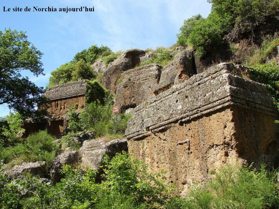 Le site de Norchia aujourdhui