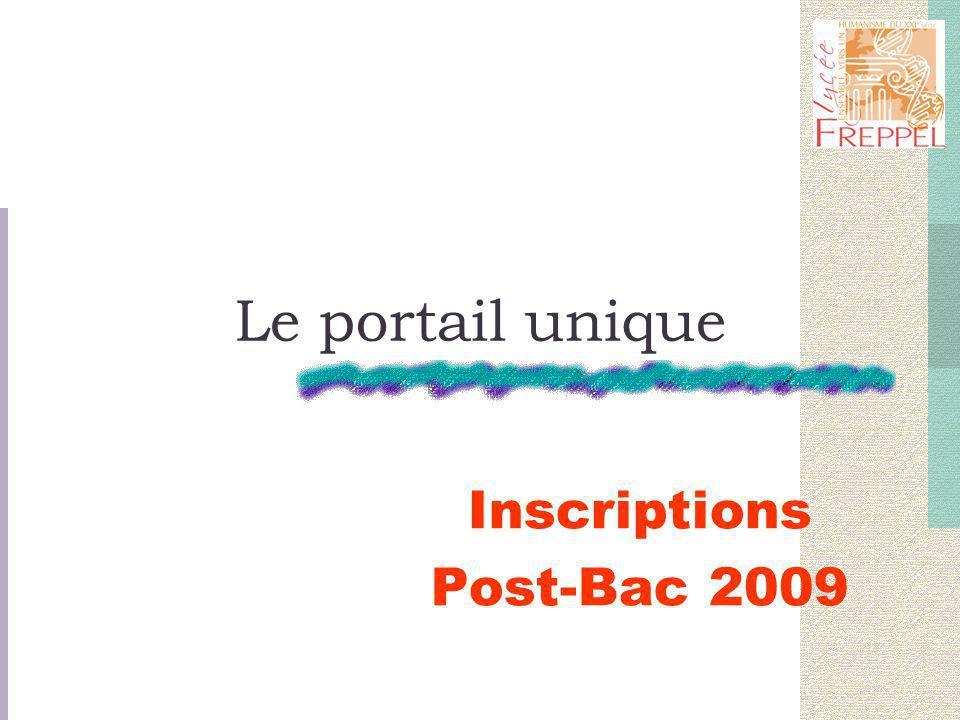 Le portail unique Inscriptions Post-Bac 2009
