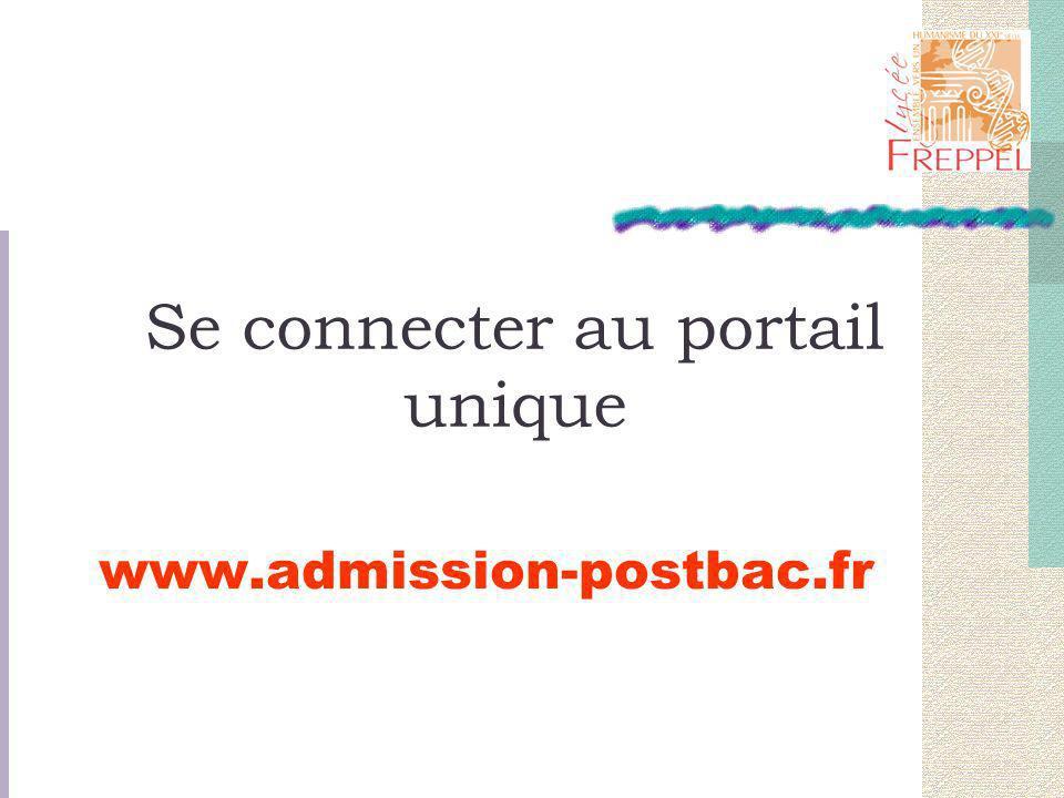 Se connecter au portail unique www.admission-postbac.fr