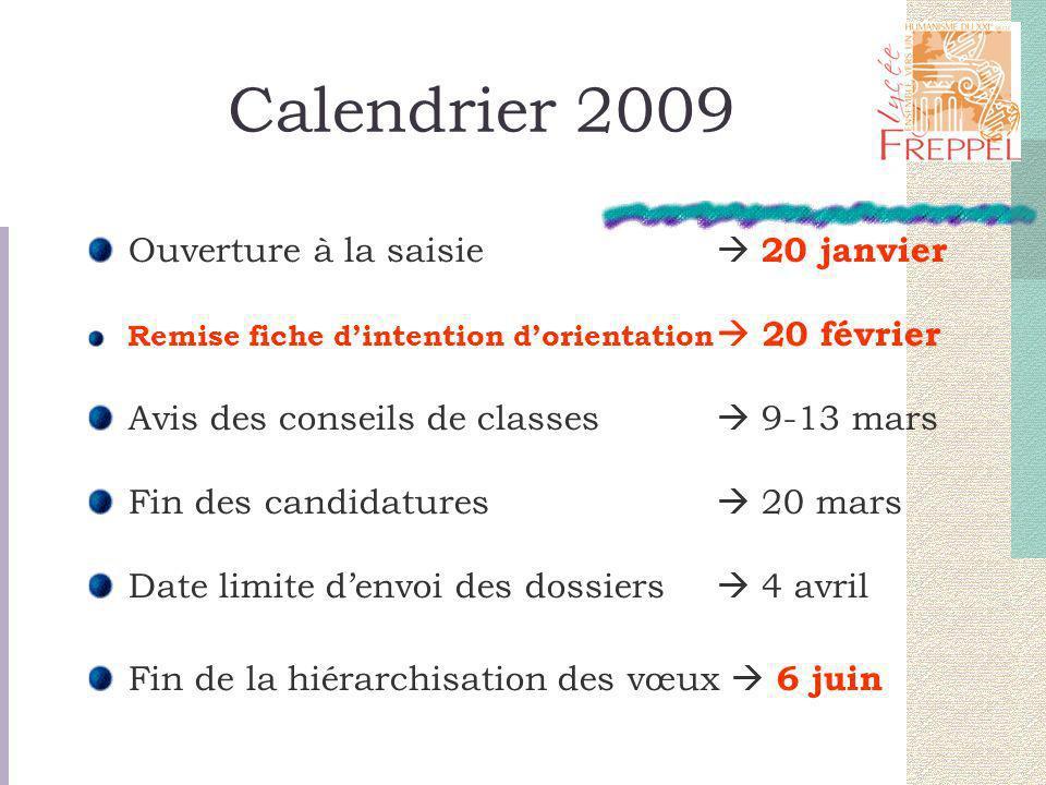 Calendrier 2009 - Suite Propositions dadmission / Réponses des candidats (72 heures) Mardi 9 juin à 14 heures.