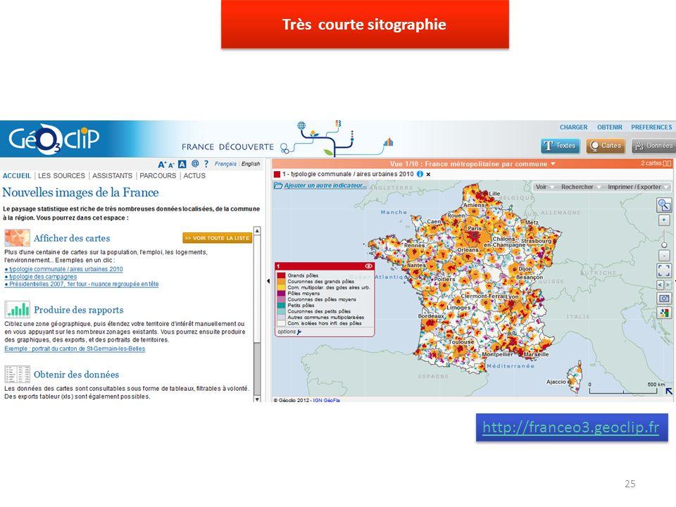 http://franceo3.geoclip.fr Très courte sitographie 25