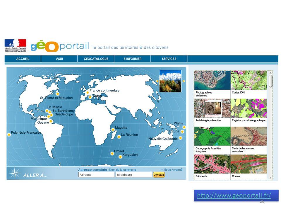 http://www.geoportail.fr/ 26