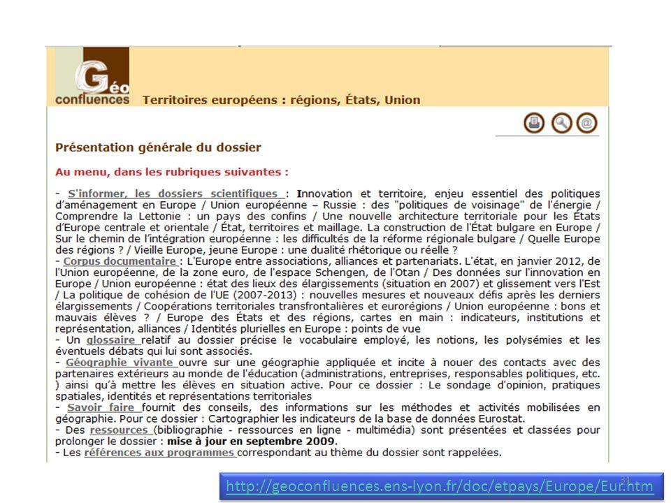 http://geoconfluences.ens-lyon.fr/doc/etpays/Europe/Eur.htm 31