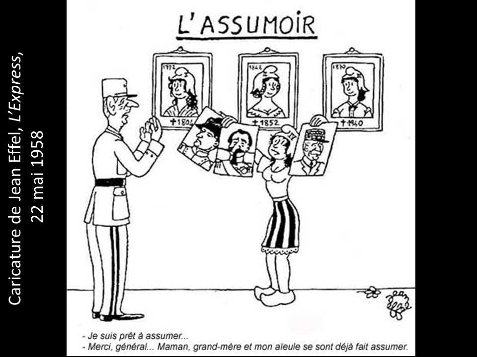 Caricature de Jean Effel, LExpress, 22 mai 1958