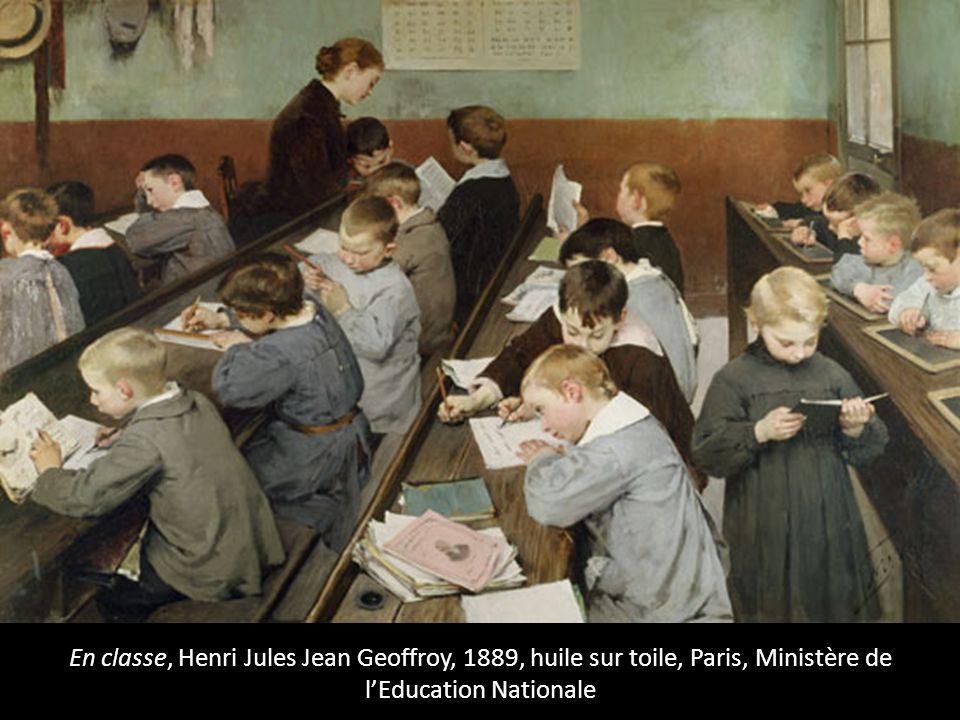 En classe, Henri Jules Jean Geoffroy, 1889, huile sur toile, Paris, Ministère de lEducation Nationale