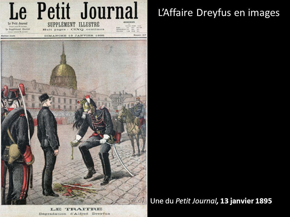 Une du Petit Journal, 13 janvier 1895 LAffaire Dreyfus en images