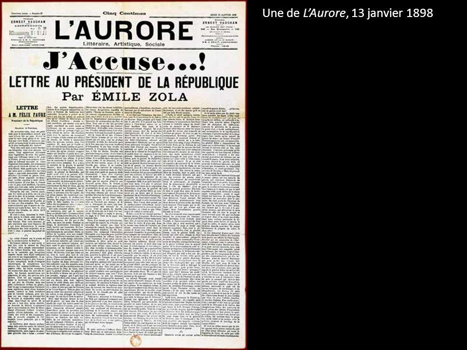 Une de LAurore, 13 janvier 1898