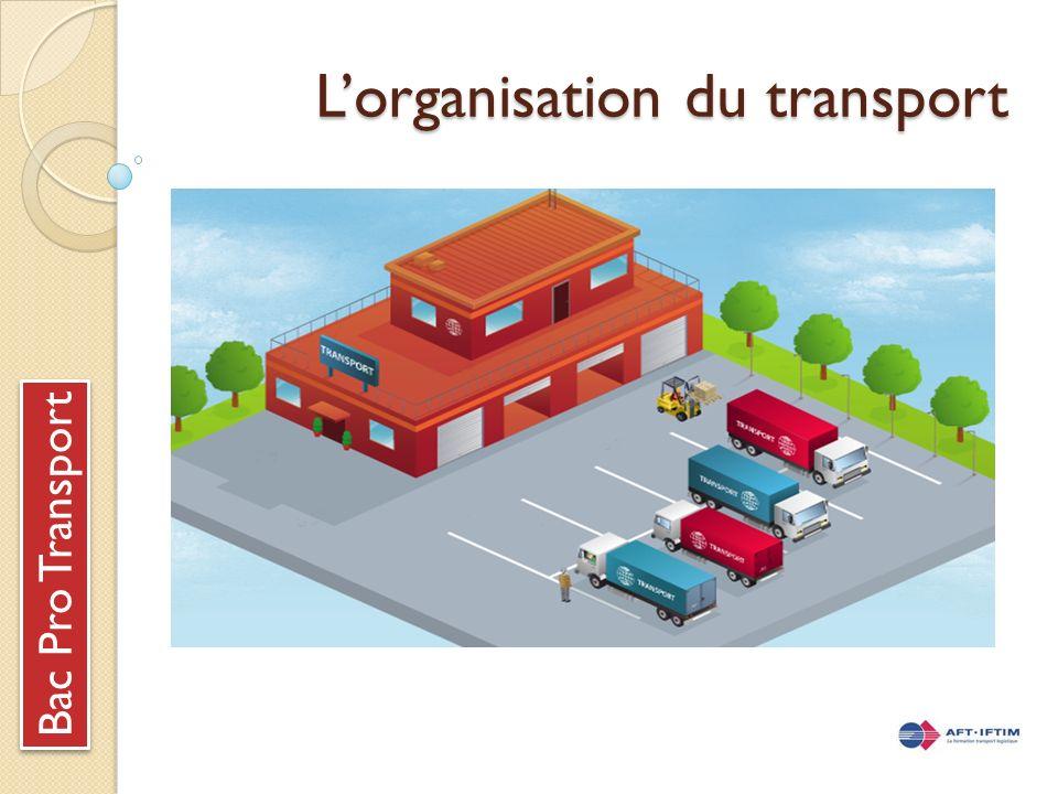 Lorganisation du transport Bac Pro Transport