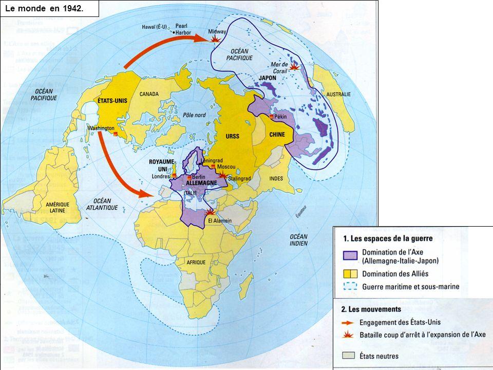 Le monde en 1942.
