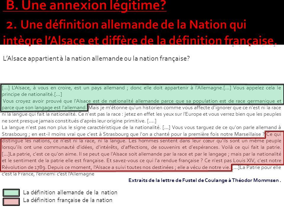 Paris, 27 octobre 1870 Monsieur, […] L'Alsace sera-t-elle à la France ou à l'Allemagne ? La Prusse compte bien résoudre cette question par la force ;